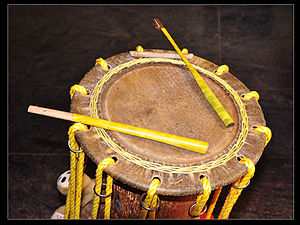 Chande -  D - E shruti Chande top (placed for left hand play).