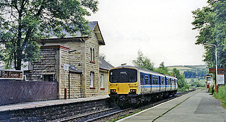 Chapel-en-le-Frith - Chapel-en-le-Frith station on the Buxton line between Manchester Piccadilly and Buxton