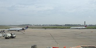 Charleston International Airport - View of the airfield from the passenger terminal
