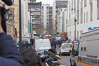 <i>Charlie Hebdo</i> shooting terrorist attack in Paris in 2015