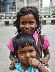 Two street children in Chennai, India