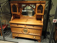 Chest of drawers, designed by Carlo Bugatti for his own use, Paris, c. 1904 - Royal Ontario Museum - DSC09513.JPG