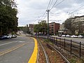 Chestnut Hill Avenue station facing inbound, October 2016.JPG