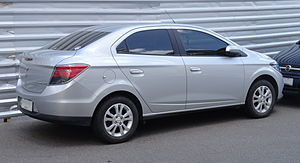 Chevrolet Onix - Back of the Chevrolet Prisma
