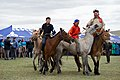 """Children on Horses Assemble Before Secretary Kerry and Mongolian Foreign Minister Purevsuren as They Attend a """"Mini-Nadaam"""" Outside Ulaanbaatar (27443916362).jpg"""