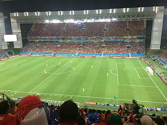 Australia national soccer team - Australia against Chile in Arena Pantanal, Cuiabá, at the 2014 FIFA World Cup.