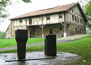 Baserri Traditional half-timbered or stone-built type of housebarn farmhouse found in the Basque Country in Northern Spain and Southwestern France
