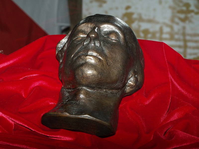 File:Chopin's death mask.jpg