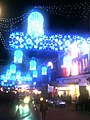 Chrismas lights over New Street (4172805310).jpg