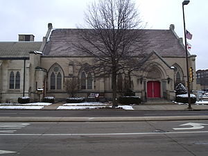 Episcopal Diocese of Eau Claire - Christ Church Cathedral in Eau Claire, from the opposite side of Lake St.
