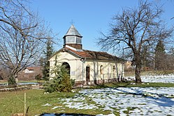 Church at Nativity of the Mother of God Monastery, Botevgrad - side view.jpg
