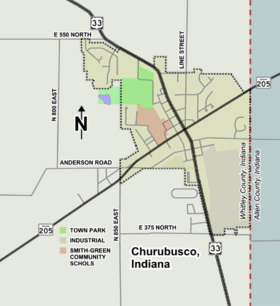 Churubusco map.png