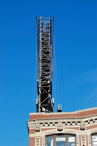 Boston Citgo sign - Profile view revealing inner steel skeleton