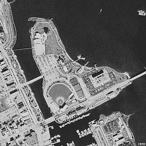 City Island (Daytona Beach) - Aerial view of Daytona Beach City Island