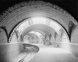 New York City Subway - The City Hall station of the IRT Lexington Avenue Line opened on October 27, 1904