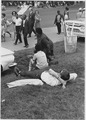 Civil Rights March on Washington, D.C. (Marchers relaxing and walking.) - NARA - 542006.tif