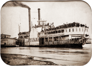 Sultana (steamboat) - Image: Civil War Steamer Sultana tintype, 1865