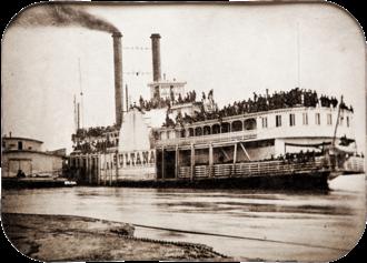 Sultana (steamboat) - Image: Civil War Steamer Sultana tintype, 1865