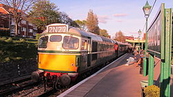 Class 27 No. D5401 at Swanage Railway Station (7225279944).jpg