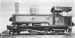 South African Class C 4-6-0T - Works picture of NGR Class G no. 8