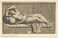 Cleopatra, partly naked laying on a bed MET DP854058.jpg