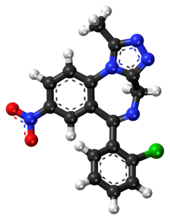 Clonazolam ball-and-stick model.png