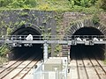 Closeup view of the southern portals of Hillfield tunnels, Newport - geograph.org.uk - 2390371.jpg