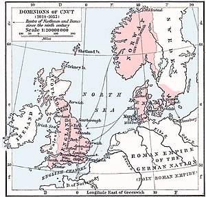 Kingdom of England - The dominions of Cnut the Great (1014–1035)