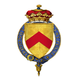 Coat of Arms of Sir Humphrey Stafford, 1st Duke of Buckingham, KG.png