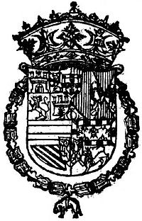 Coat of Arms of the Prince of Asturias-Aitona1588.jpg