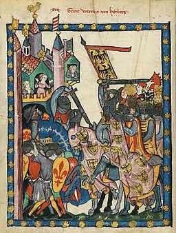 Codex Manesse 43v - Graf Wernher von Homberg