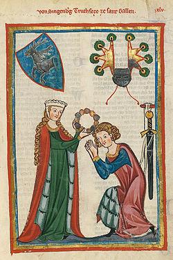El código Manesse, un libro de la Edad Media