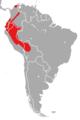 Coendou bicolor Distribution Map.png