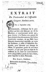 Extrait du procès-verbal de l'assemblée des citoyens libres et propriétaires de couleur des îles et colonies françaises, constituée sous le titre de colons américains