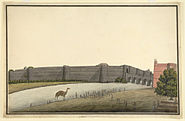 Colour Painting of salimgarh Fort linked to Red Fort