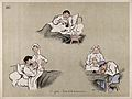 Comical scenes of patients taking afternoon tea and a nurse Wellcome V0015719.jpg