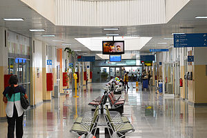 Amílcar Cabral International Airport - Inside the terminal at Sal Airport.