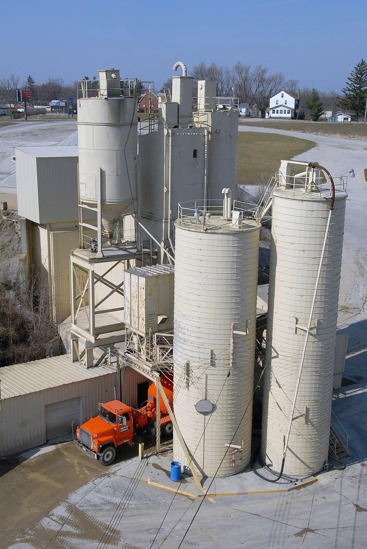 Concrete plant in Mansfield, Ohio