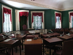2nd United States Congress - Senate chamber at Congress Hall