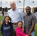 Congressman George Miller, Tony Thurmond and daughters Maya (left) and Jayden (7729129512).jpg