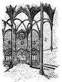 Convent de Sant Doménec, aula capitular. Dibuix a ploma de 1887.jpg