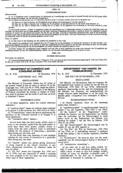 File:Copyright Regulations 1978 from Government Gazette.djvu