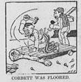 Corbett-vs-Hanlon match cartoon - CORBETT FLOORED.jpg