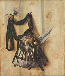 Cornelis Norbertus Gysbrechts: Trompe l'Oeil with Falconer's Bag and other Equipment for Falconry