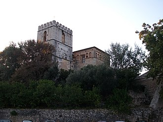 Monastery of Sant Jeroni de Cotalba - Main or Bell tower, of Valencian Gothic style, 15th century.