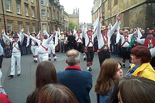 Morris dance A form of English folk dance usually accompanied by music