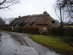 Bradley, Hampshire - Image: Cottages at Bradley geograph.org.uk 105358