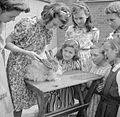 Country School- Everyday Life at Baldock County Council School, Baldock, Hertfordshire, England, UK, 1944 D20566.jpg