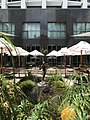 Courtyard and female sculpture at the Stamford Hotel, Brisbane 01.jpg