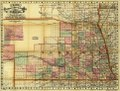 Cram's rail road and township map of Nebraska. LOC 98688511.tif